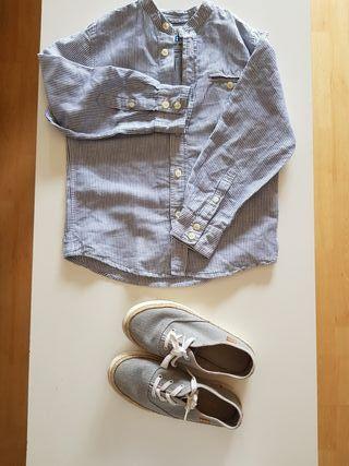 Camisa Brotes lino y zapatos niño Brotes
