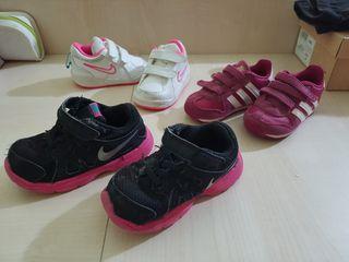 Zapatillas Nike y Adidas niña