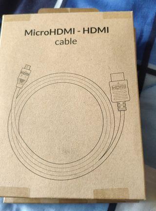 Cable microhdmi a hdmi(nuevo)