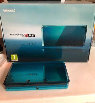 Nintendo 3DS Azul Aqua con Caja