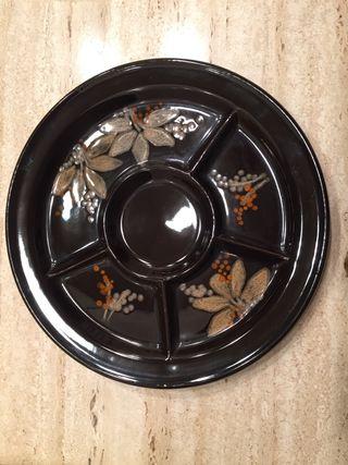 Plato cerámica decorado oriental