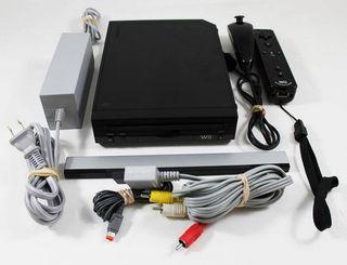 Nintendo Wii negra como nueva