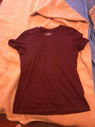 camisa color vino