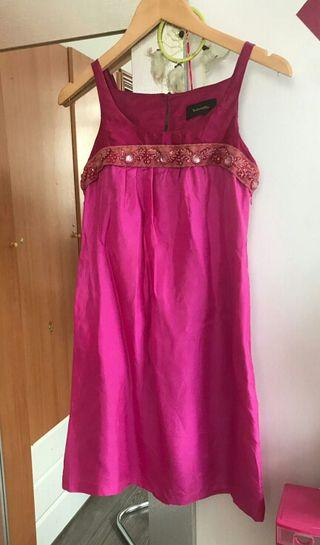 Vestido rosa seda Tintoreto t36