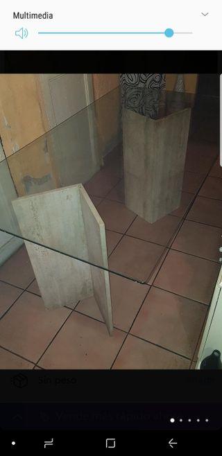 Mesa de cristal comedor para 6 sillas