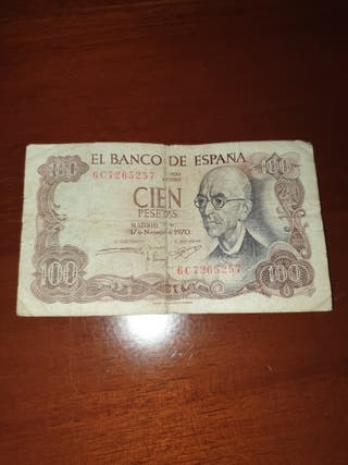 billete 100 pesetas