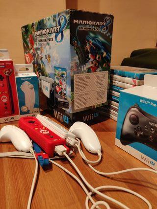 WII U PREMIUM PACK 32GB MK8 + 3 mandos + 10 Juegos