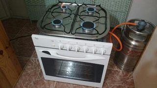 Horno electrico y placa de gas esquinas redondas