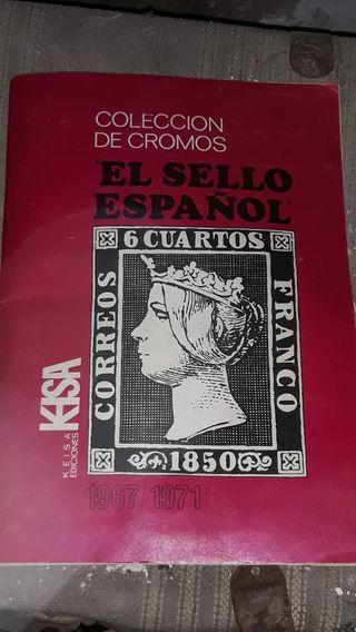 Album colección antigua sellos en cromos