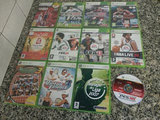 Pack juegos XBOX 360. FIFA PES NBA TENIS