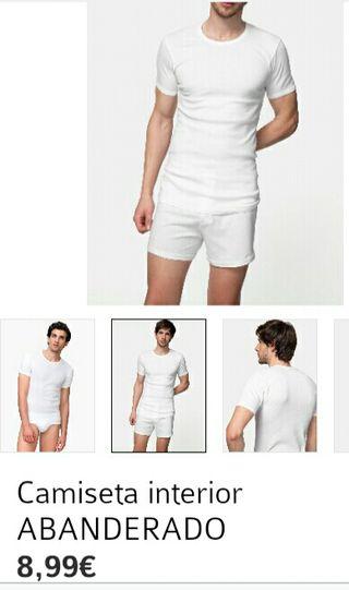 Camiseta blanca interior hombre. M
