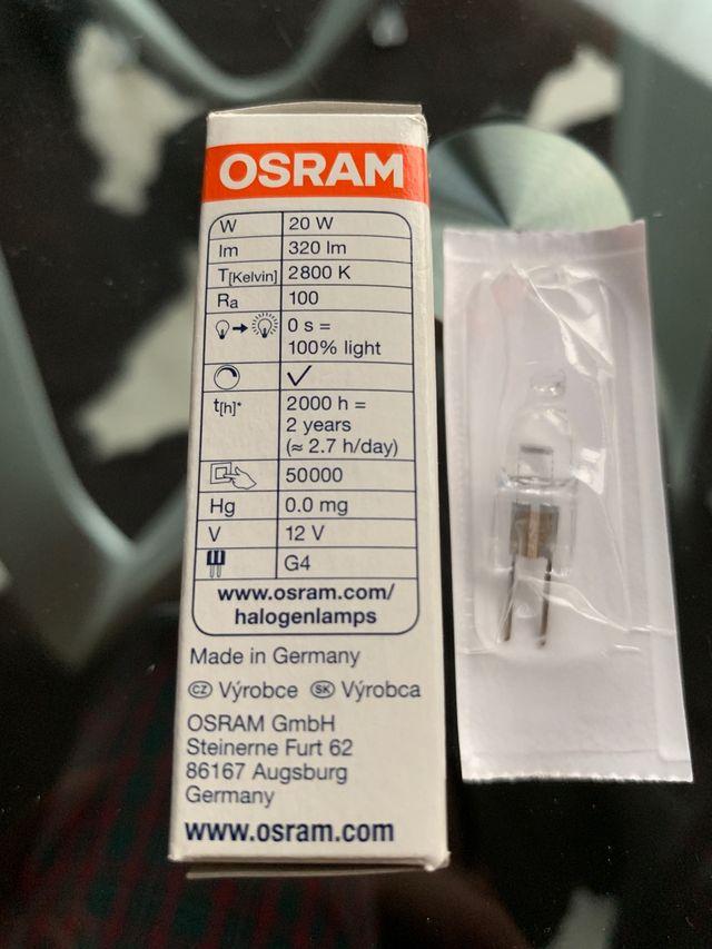 Halógena Osram G4 20W