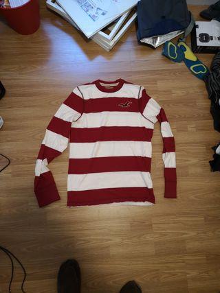 jersey Hollister blanco y rojo
