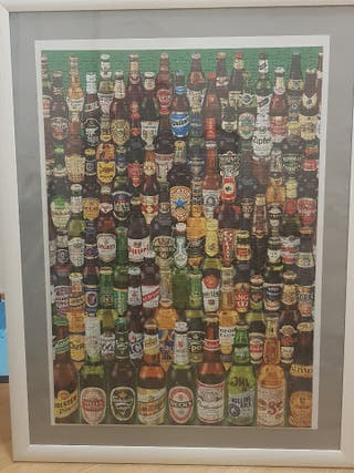 puzzle enmarcado de cervezas