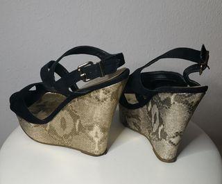 zapato negro tacon talla 38
