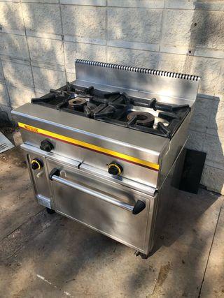 Cocina 2 fuegos horno y gratinador a gas