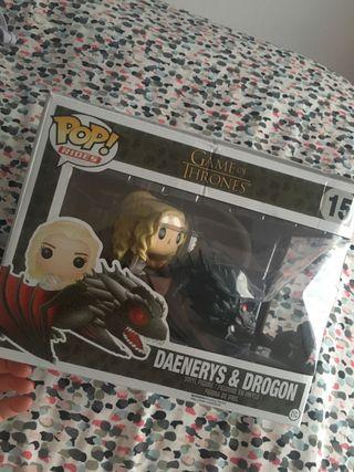 Funko Pop de Daenerys y Drogon (juego de tronos).