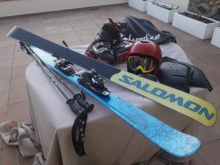 esquis salomon y dynastar. esquí. buen estado.