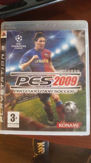 Pro Evolution Soccer 2009. PS3