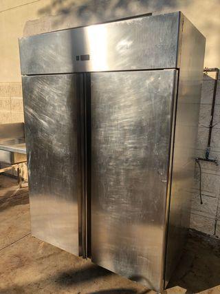 Armario frigorífico refrigerado nevera inox