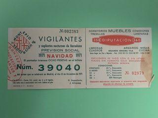 Lotería navidad 1971