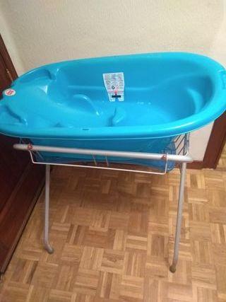 cambiador mesa plegable soporte con bañera.