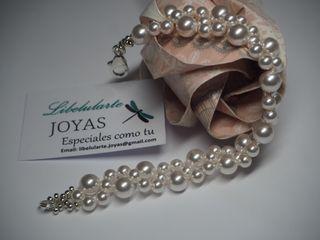 Pulsera novia perlas cristal Swarovski