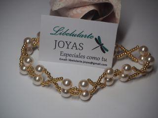 Pulsera de novia con perlas cristal Swarovski