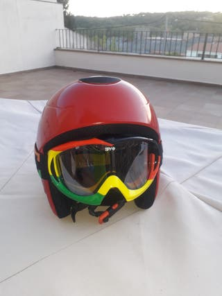 """casco esqui scott, gafas spy reggae""""unicas""""."""