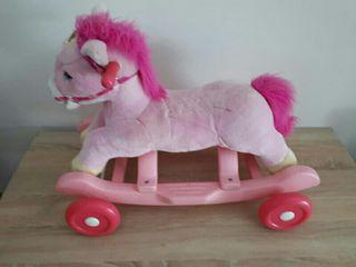 Caballo rosa balancin correpasillos juguete
