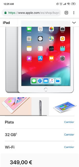 Apple Ipad 32 GB NUEVO Gris