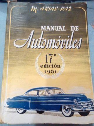 libro antiguo manual de automóviles 1951
