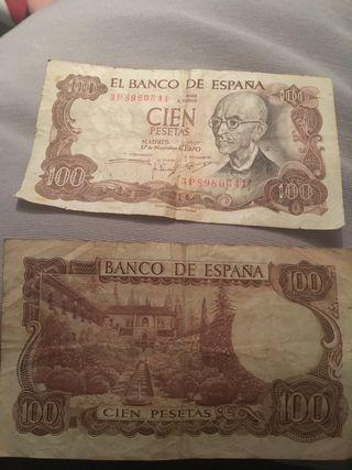 Billete de 100 pesetas 1970