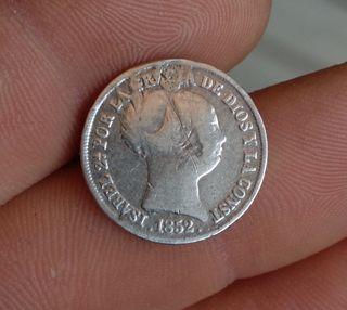 2 reales de 1852 plata Isabel II