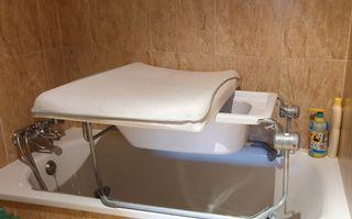 Cambiador bañera sobre bañera