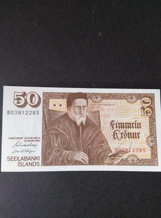 Islandia 50 coronas. SC