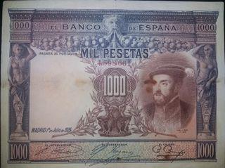 Billete de 1000 Pesetas. 1 de Julio 1925. Carlos I