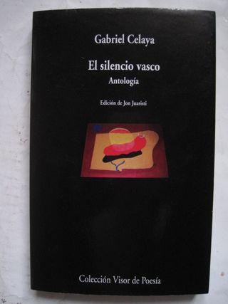 libro El silencio Vasco Antología Gabriel Celaya