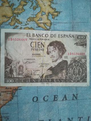 Billete 100 pesetas 1965
