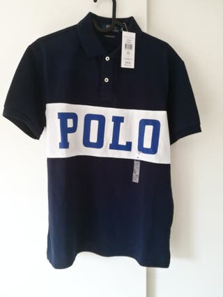 Polo Ralph Lauren Azul Camisa T. M 38 S 36 Hombre
