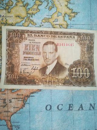 Billete 100 pesetas 1953