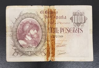 BILLETE 1000 PESETAS 1940 CARLOS I