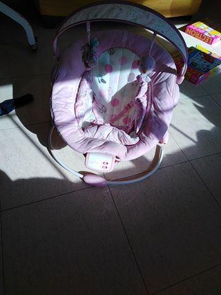 hamaca bebe rosa