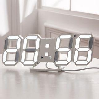 Reloj Digital Alarma Sensor Dia Despertardor 3D