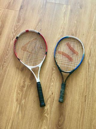 2 raquetas de tennis.