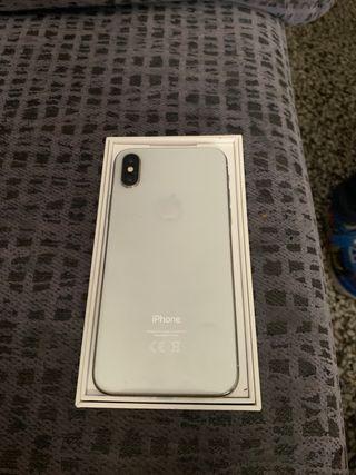 iPhone x silver 64gb nuevo