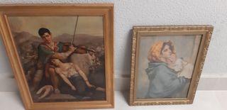 dos cuadros antiguos