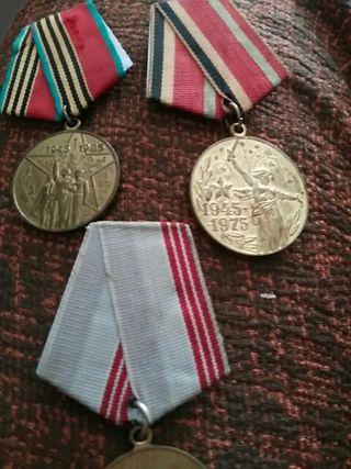 lote de 3 medallas rusas.