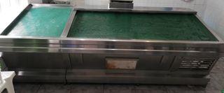 Mostrador con cámara frigorífica para pescado