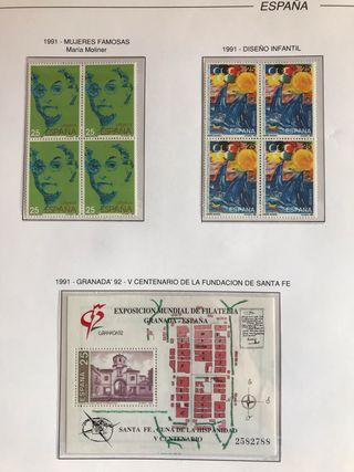 Sellos España 1991 / 1992